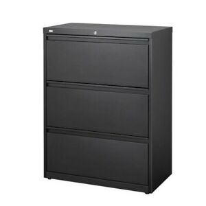 Scranton Co 3 Drawer Lateral File Cabinet In Black