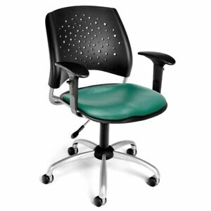Scranton Co Faux Leather Swivel Drafting Stool In Teal
