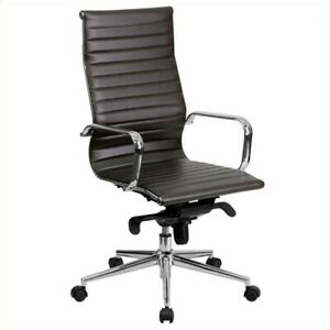 Scranton Co Ribbed Upholstered Executive Office Chair In Brown