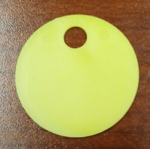 250 Pack Yellow Plastic Inventory Id Tags 1 25 Round Tear proof