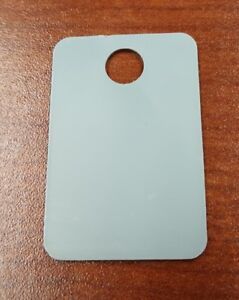 250 Pack Gray Plastic Inventory Id Tags 1 X 1 5 Tear proof And Waterproof