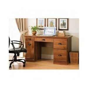 Computer Desk Home Office Workstation Laptop Furniture Keyboard Tray Brown New