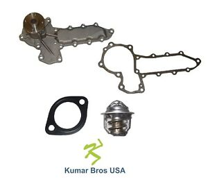 New Kumar Bros Usa Water Pump With Thermostat For Bobcat Articulated Loader 1600