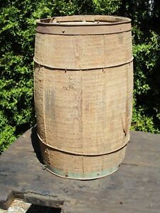 Vintage Wood Nail Keg Barn Fresh Small Barrel Plant Flower Display Patio