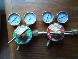 Oxygen And Acetylene Regulators Made By Marquette 50 Dollars For Pair