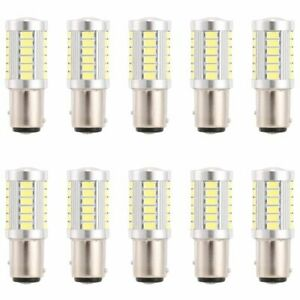 6pcs White Bay15d 1157 Car Tail Stop Brake Light 5630 33 Smd Led Canbus Bulb 12v