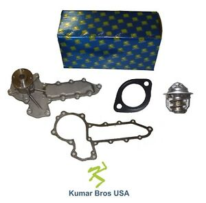 New Ford New Holland Skid steer Loader L553 L555 Water Pump With Thermostat