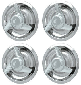 Set Of 4 New Chrome Center Caps For 1967 1974 Chevy Rally Wheel
