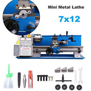 550w Precision Mini Metal Lathe Metalworking Metal Turning Variable Speed 7 x12