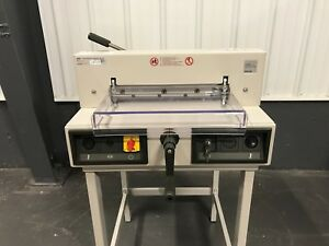 Triumph 3915 95 Semi automatic Ream Paper Cutter 15 3 8 Serviced