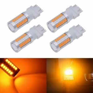 10pcs 7440 2835 42smd Amber Ice Blue Dualcolor Switchback Led Turn Light Bulb