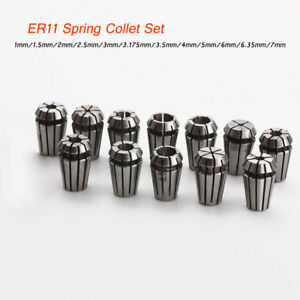12pc lot Er11 Spring Collet Precision 1 7mm Cnc Engraving Router Spindle Motor