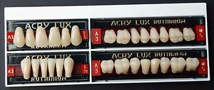 Acrylic Acry Lux Ruthinium Dental Artificial Teeth Set In All Sizes