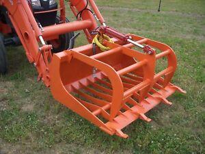 Kubota Tractor Skid Steer Attachment 48 Rock Grapple Tooth Bucket Free Ship