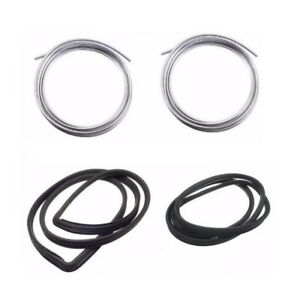 Bmw E10 1600 2002 2002tii Front Rear Windshield Rubber Seal And Moulding Kit