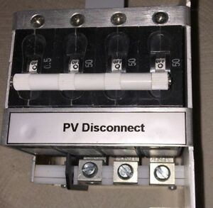 50 Amp 3 Pole Gfdi Dc Breakers Pv Disconnect