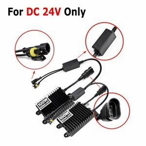 24v Pair 100w Watt Ac Hid Xenon Ballast Headlight Conversion H1 H3 H4 H7 H8 9005