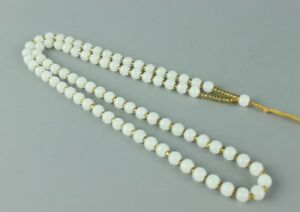 Exquisite Chinese Hand Woven White Jade Necklace