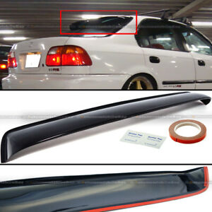 For 96 98 Civic 4dr Sedan Black Tinted Rear Roof Window Shade Visor Spoiler