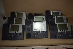 Cisco 7940 Series Voip Phone Lot Of 15 W 9 Handsets Stands lot 4