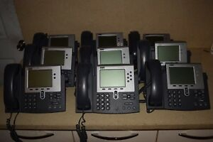 Cisco 7940 Series Voip Phone Lot Of 20 W Handsets Stands lot 2