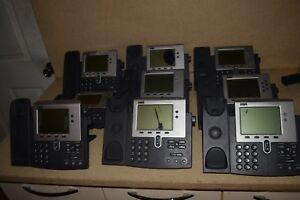 Cisco 7940 Series Voip Phone Lot Of 13 W Stands screen Bleed lot 5