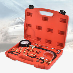 Fuel Injection Pump Pressure Injector Tester Pressure Test Gauge Kit 0 140psi