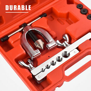 New Auto Double Flaring Brake Line Tool Kit Car Truck With Mini Pipe Cutter