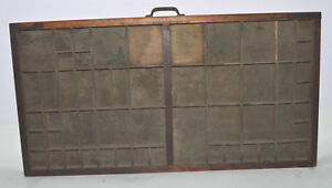 Vintage Printer s Letterpress Type Tray drawer Shadow Box Full Size Lower Case