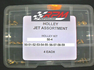 Holley Carburetor 1 4 32 Gas Main Jets Assortment Kit 50 59 4 Each 40pack 50 4
