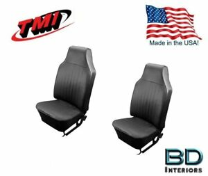 1968 1969 Vw Volkswagen Bug Front Slip On Seat Upholstery Black In Stock