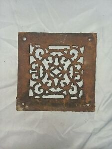 1 Antique Cast Iron Fireplace Grill Grates 8x8 Wall Ceiling Vent Old Vtg 81 18f