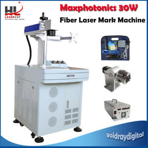 New 30w For Metal Non metal Fiber Laser Marking Engraving Machine Us Ship