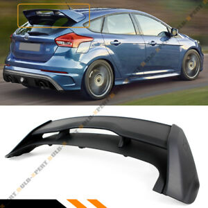 For 2012 2018 Ford Focus St Hatchback Rs Primer Blk Style Rear Roof Spoiler Wing