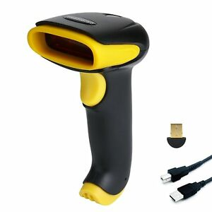 Taohorse 2 in 1 Usb Bluetooth Barcode Scanner Wireless Wired Handheld Laser 1d