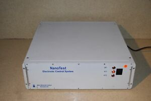 Nanotest Electronic Control System By Micro Materials
