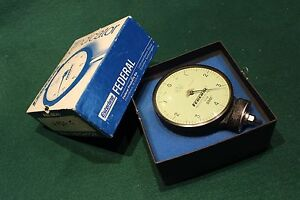 Usa Made Federal Dial Indicator Model E1kb Tolerance 0001 Free Usa Shipping