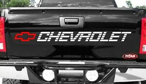 Chevy Tailgate Sticker Decal Chevrolet Bow Vinyl Graphics Silverado 1500 Trucks