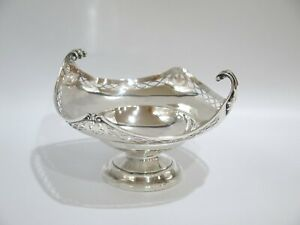 8 5 In Sterling Silver Antique English Openwork Rhombus Serving Bowl