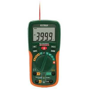 Extech Ex230 12 Function Digital Mini Multimeter With Ir Thermometer