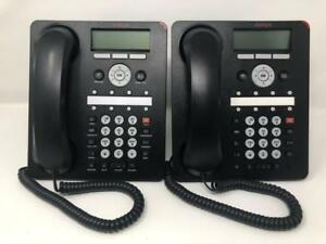 2 Avaya 1608 i Voip Business Office Phones