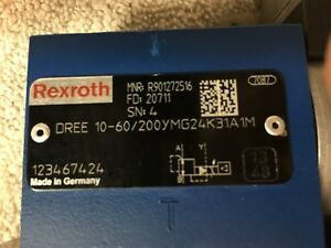 Rexroth Bosch Proportional Valve Dree10 60 200ymg24k31a1m r901272516