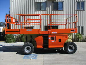 Jlg 3394rt Scissor Lift 4wd Dual Fuel Air Tires Newly Painted