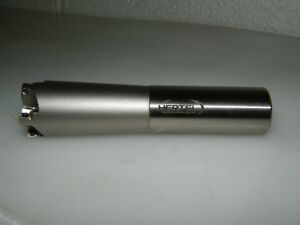 Hertel High Feed Indexable End Mill 1 25 Cutting Dia 0 03 Max Doc 6004821