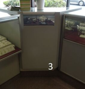 Jewelry Showcase Small Corner Case Glass Used Store Fixtures Lighted And Locks