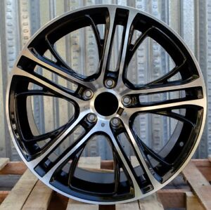 Bmw X5 Style 20x10 11 5x120 Et40 35 Black Machined Face Staggered Wheel Set