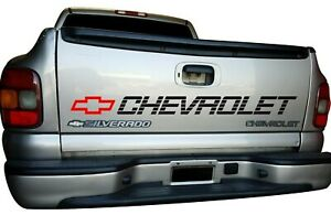 Chevrolet Bed Decal Tailgate Stickers Tahoe Silverado 1500 Vinyl Cut Graphics