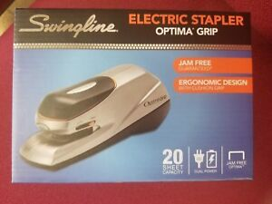 Swingline Optima Grip Electric Automatic Desktop Stapler Auto manual 20 Sheet