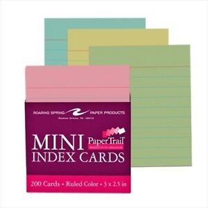 Roaring Spring Colored Index Cards 28043