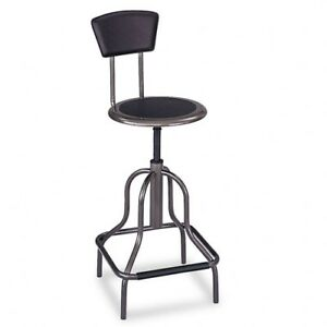 Safco Diesel High Base With Back Stool 6664